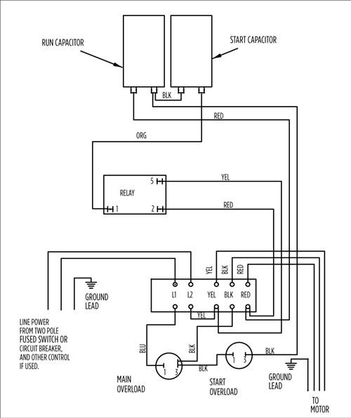 Stupendous Aim Manual Page 54 Single Phase Motors And Controls Motor Wiring Cloud Ittabisraaidewilluminateatxorg