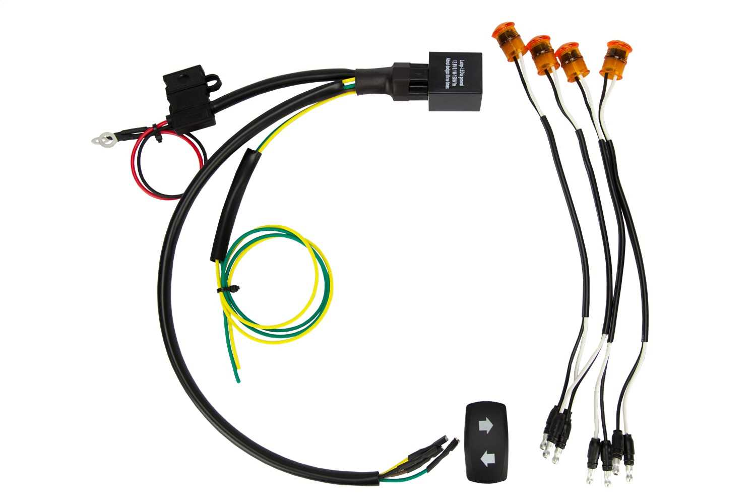 Diagram  Rigid Industries D2 Series Wiring Harness For D2