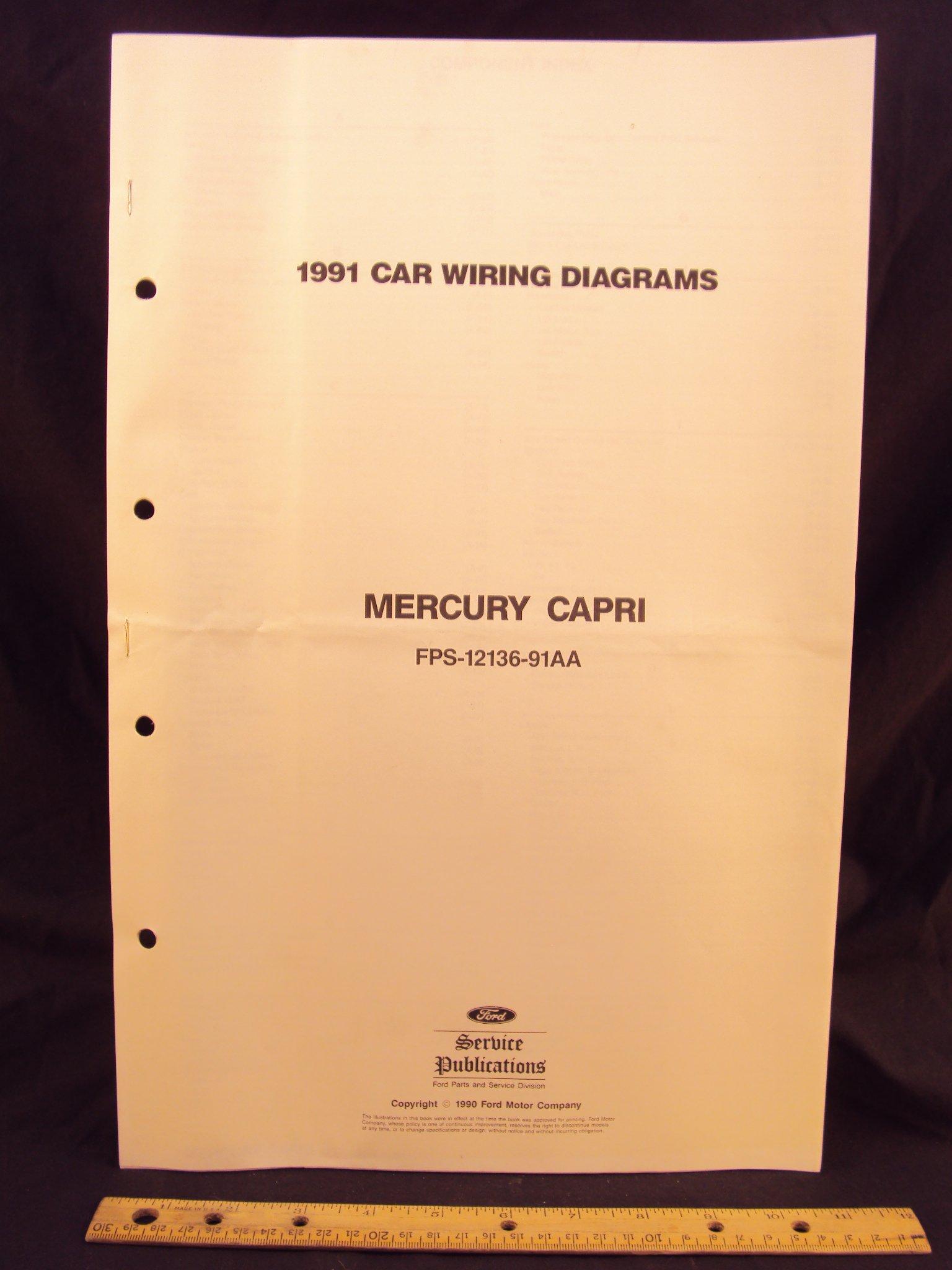 Wondrous 1991 Mercury Capri Electrical Wiring Diagrams Schematics Ford Wiring Cloud Mousmenurrecoveryedborg