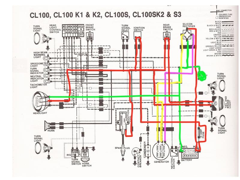 1965 Honda S90 Wiring Diagram