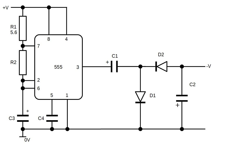 Pleasing Build Your Own Negative Voltage Generator Wiring Cloud Hemtshollocom