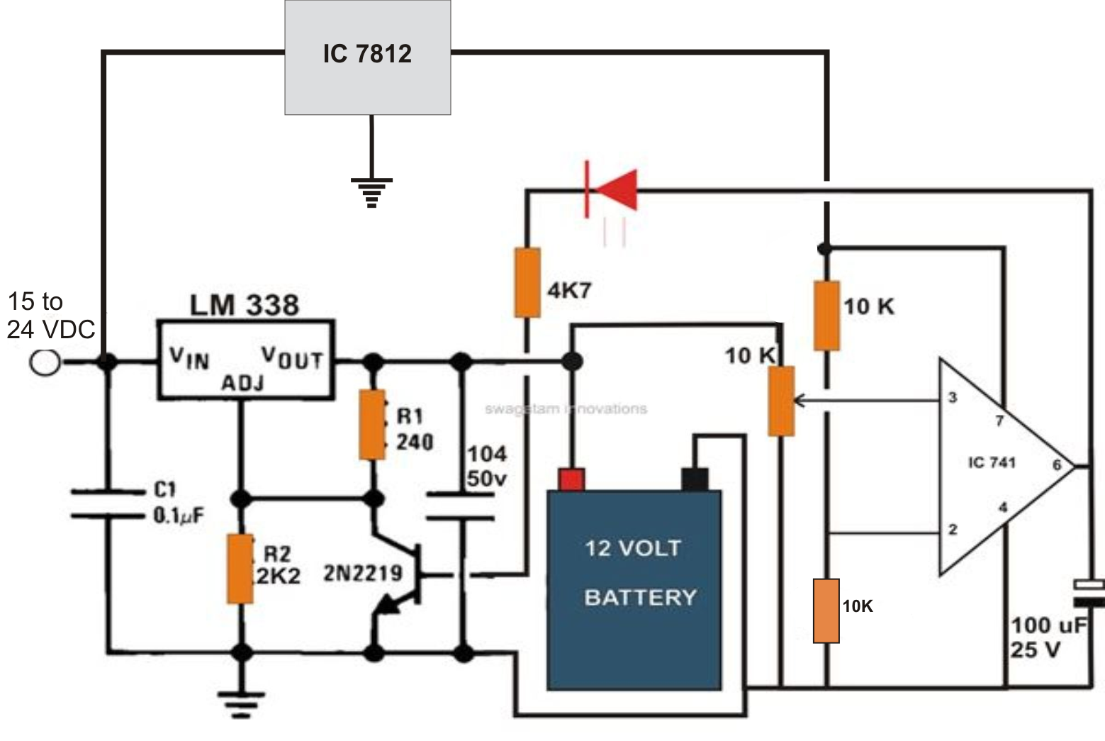 Excellent 6V To 12V Wiring Diagram Basic Electronics Wiring Diagram Wiring Cloud Picalendutblikvittorg