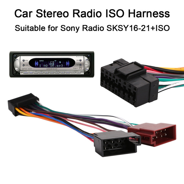 sony car stereo harness ao 8443  sony cdx series car radio stereo 16 pin wiring harness sony car radio harness sony cdx series car radio stereo 16 pin
