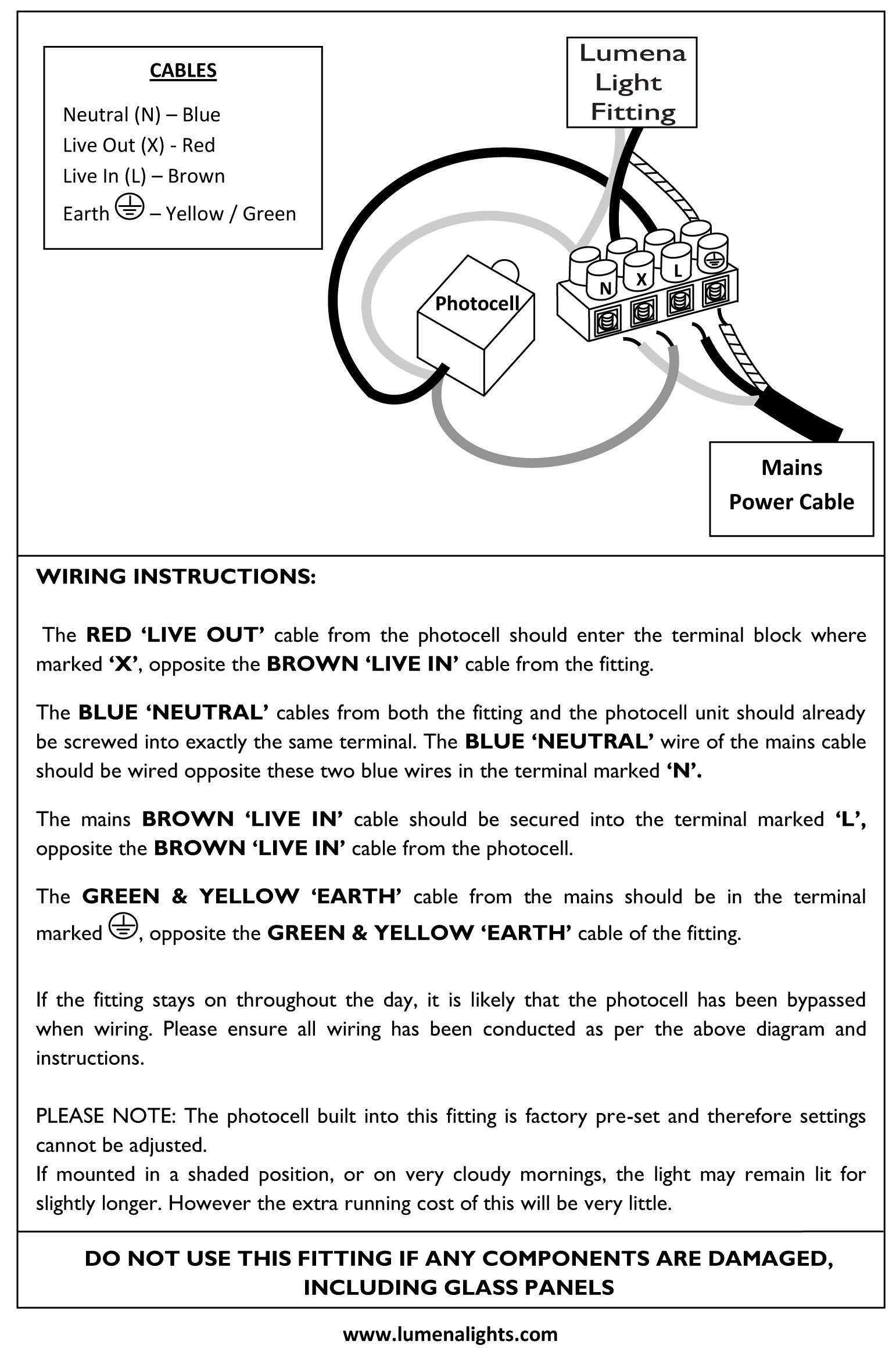 Be 0717 Wiring A Security Light To Mains Wiring Diagram