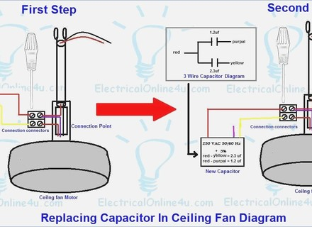 Fabulous Amazoncom Capacitor Ceiling Fan 4 Mfd 125 250Vac 2 Wire 2Wire Wiring Cloud Ostrrenstrafr09Org