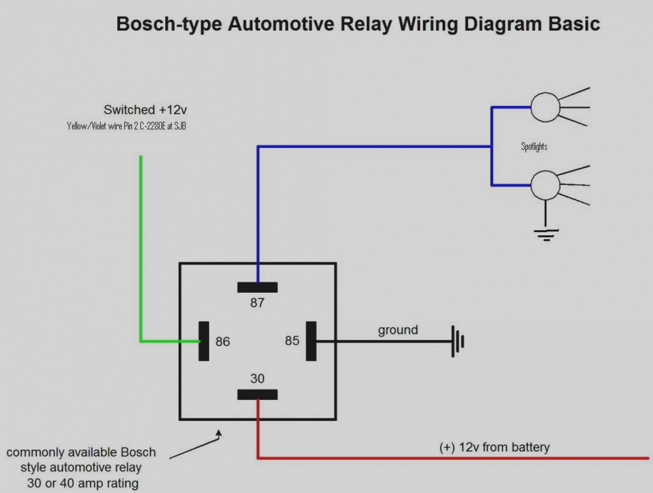 Spotlight Relay Wiring Diagram - Wiring Diagram