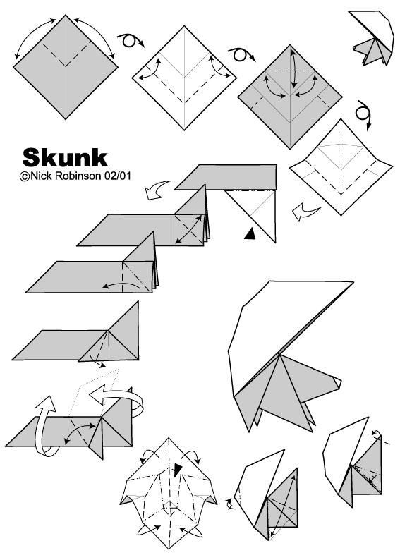 Groovy How To Fold An Origami Skunk Escort Cards Origami Origami Wiring Cloud Licukosporaidewilluminateatxorg