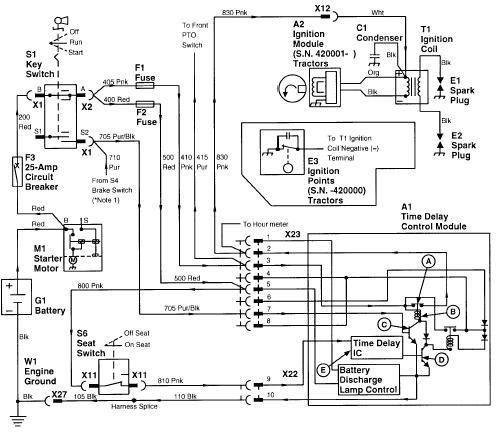 john deere 400 lawn tractor electrical diagram cub cadet