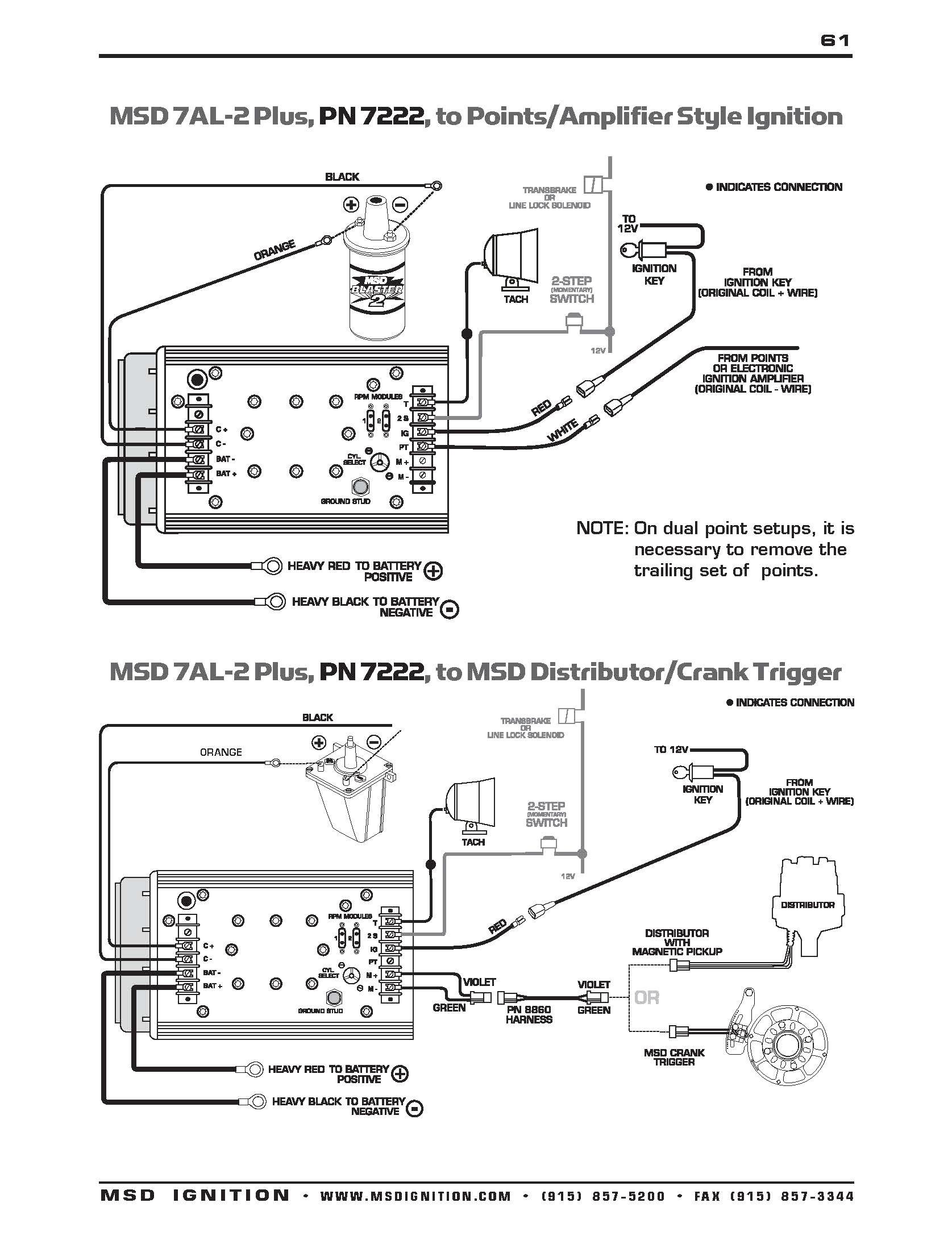 Hf 5987  Msd 6al Wiring Diagram Mallory Distributor P