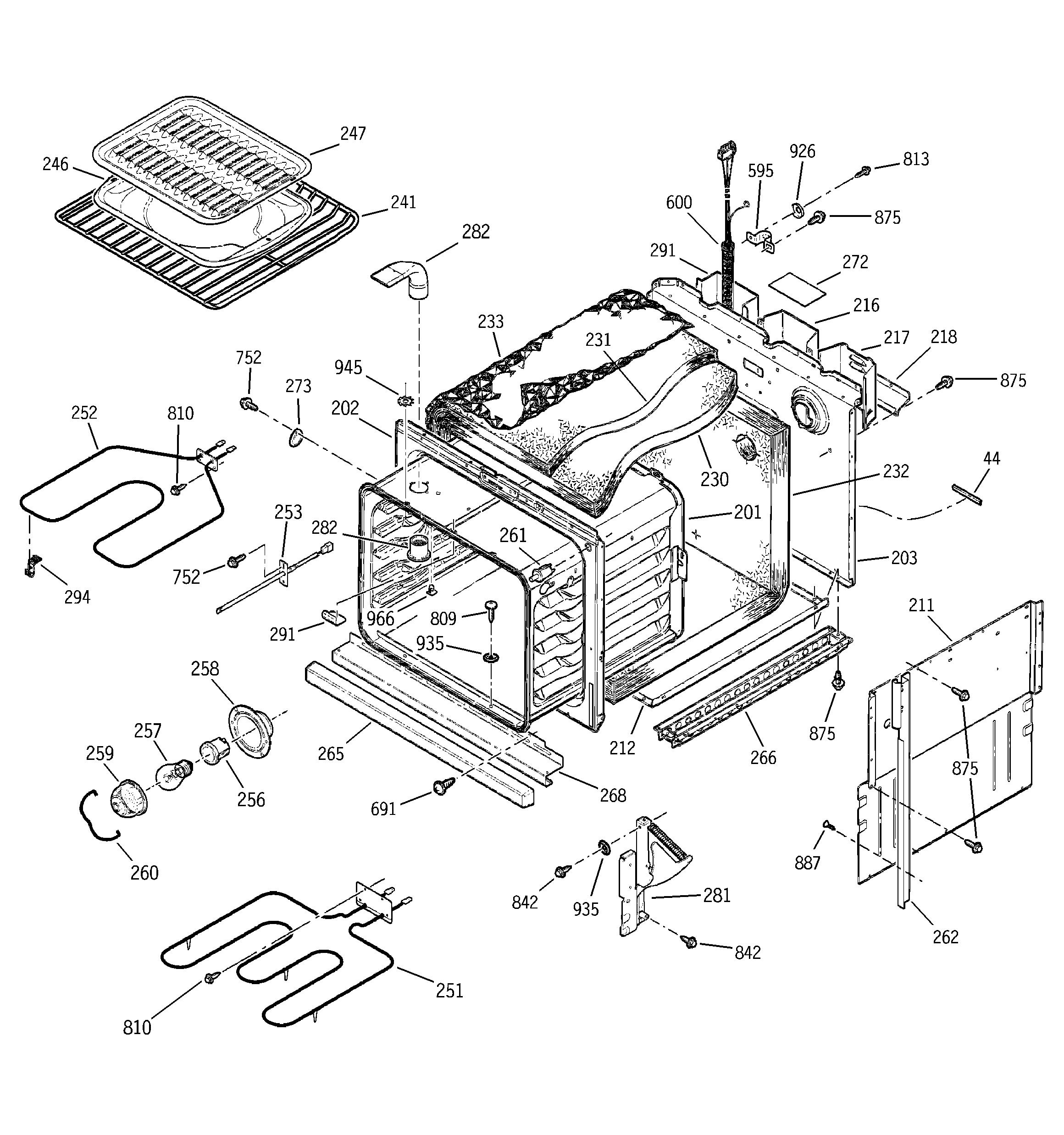 ge profile range wiring diagram fw 7376  door lock diagram and parts list for ge wallovenparts  door lock diagram and parts list for ge