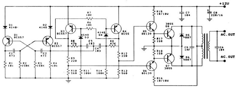 Amazing 12V To 220V 100W Inverter Power Supply Circuits Wiring Cloud Uslyletkolfr09Org