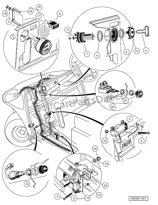 As 9064 Club Car Ds Lift Kit Also Club Car Carry All 2 Parts