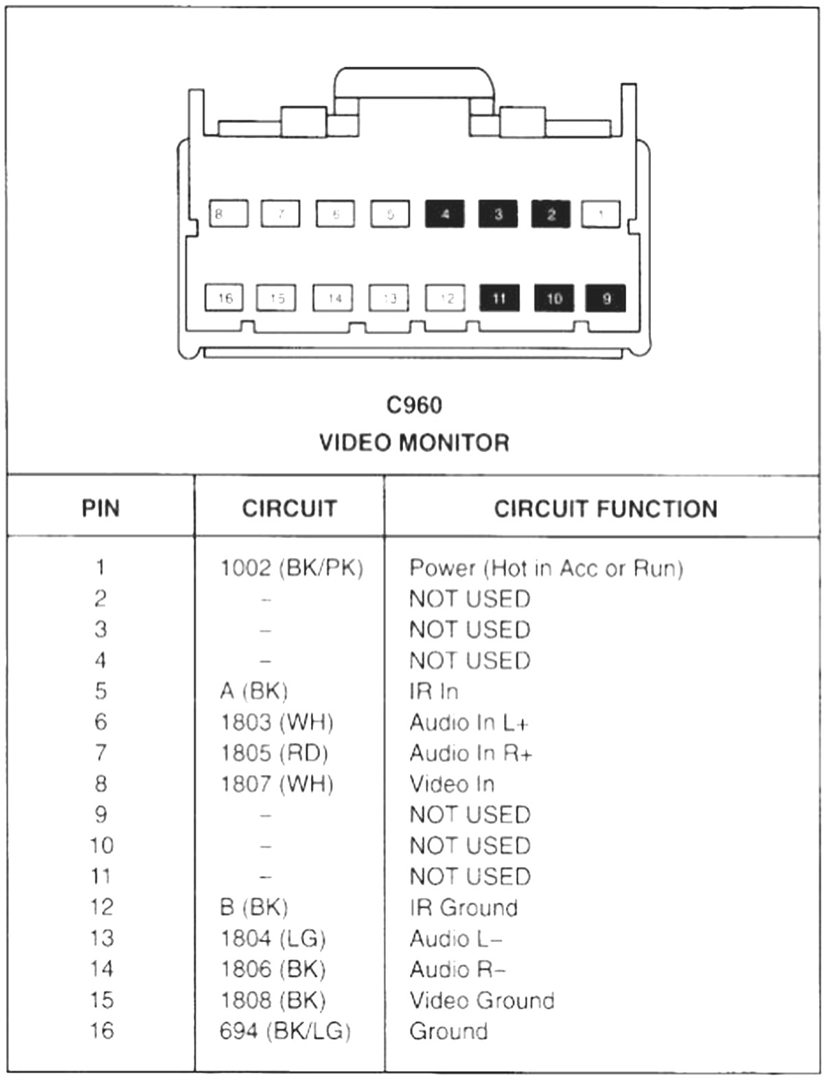 2003 Mustang Radio Wiring Diagram