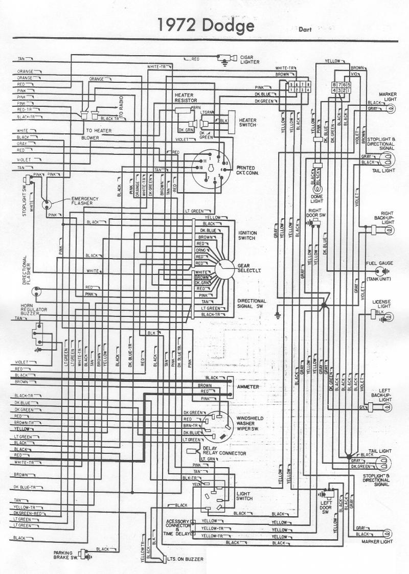 1972 Dodge D100 Wiring Diagram