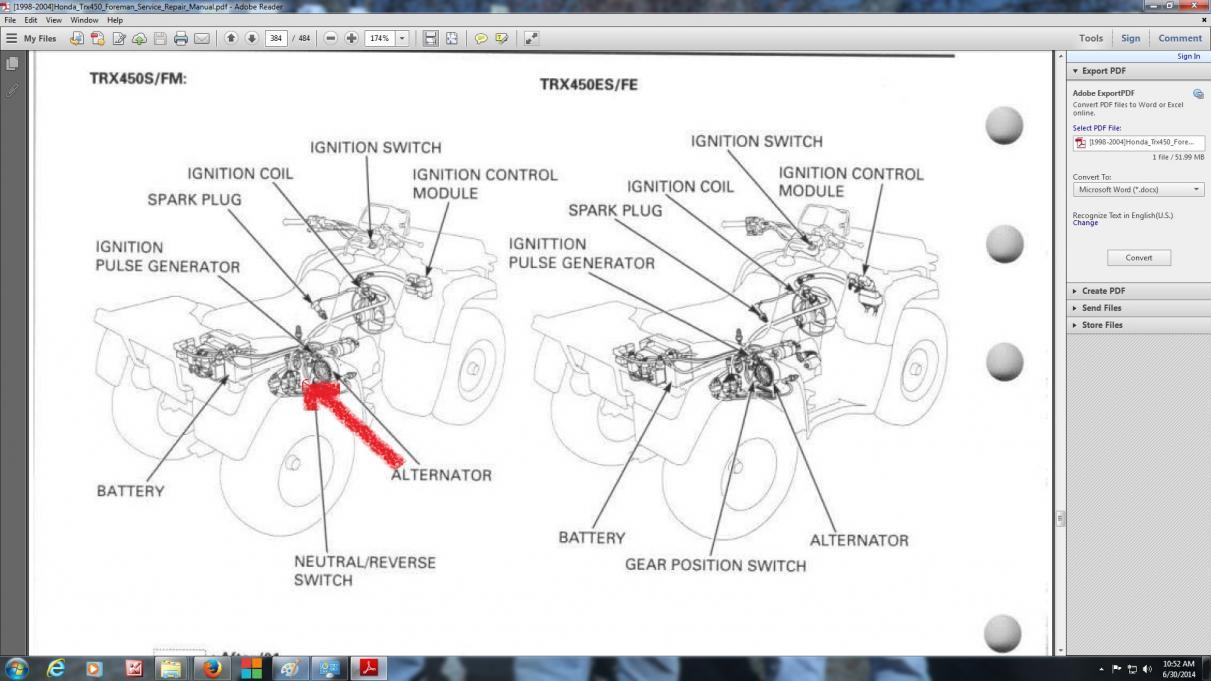 Outstanding 2004 Honda Foreman 450 Wiring Plug Honda Atv Forum Quadcrazy Wiring Cloud Biosomenaidewilluminateatxorg