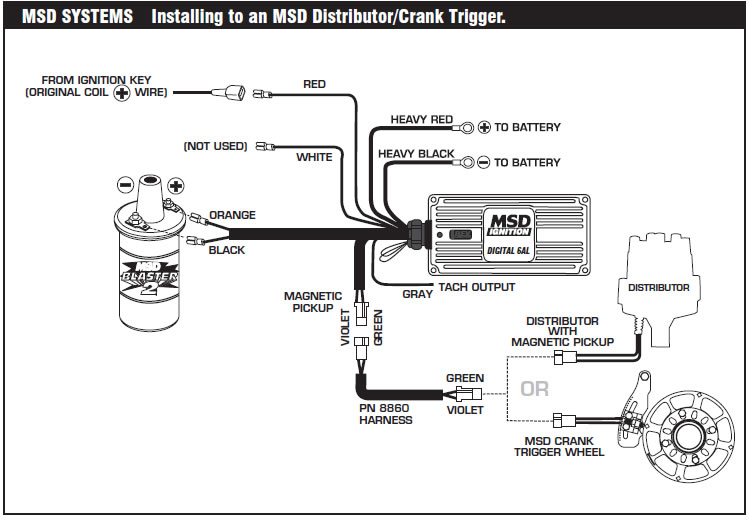 Wo 3203  Msd 6al Ignition Wiring Ignition Wiring Diagram