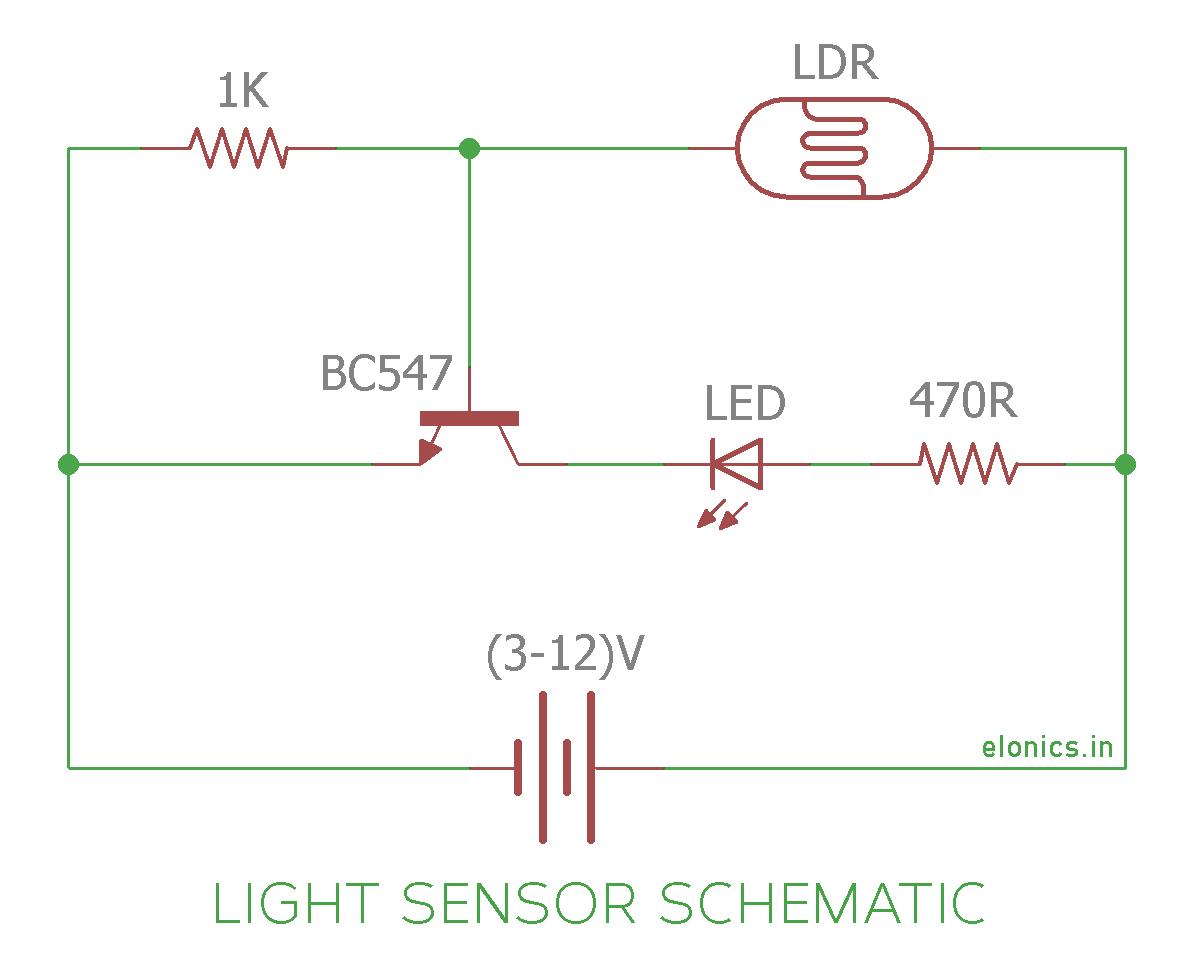 Pleasant Light Sensor And Darkness Detector Circuit Using Ldr And Transistor Wiring Cloud Vieworaidewilluminateatxorg