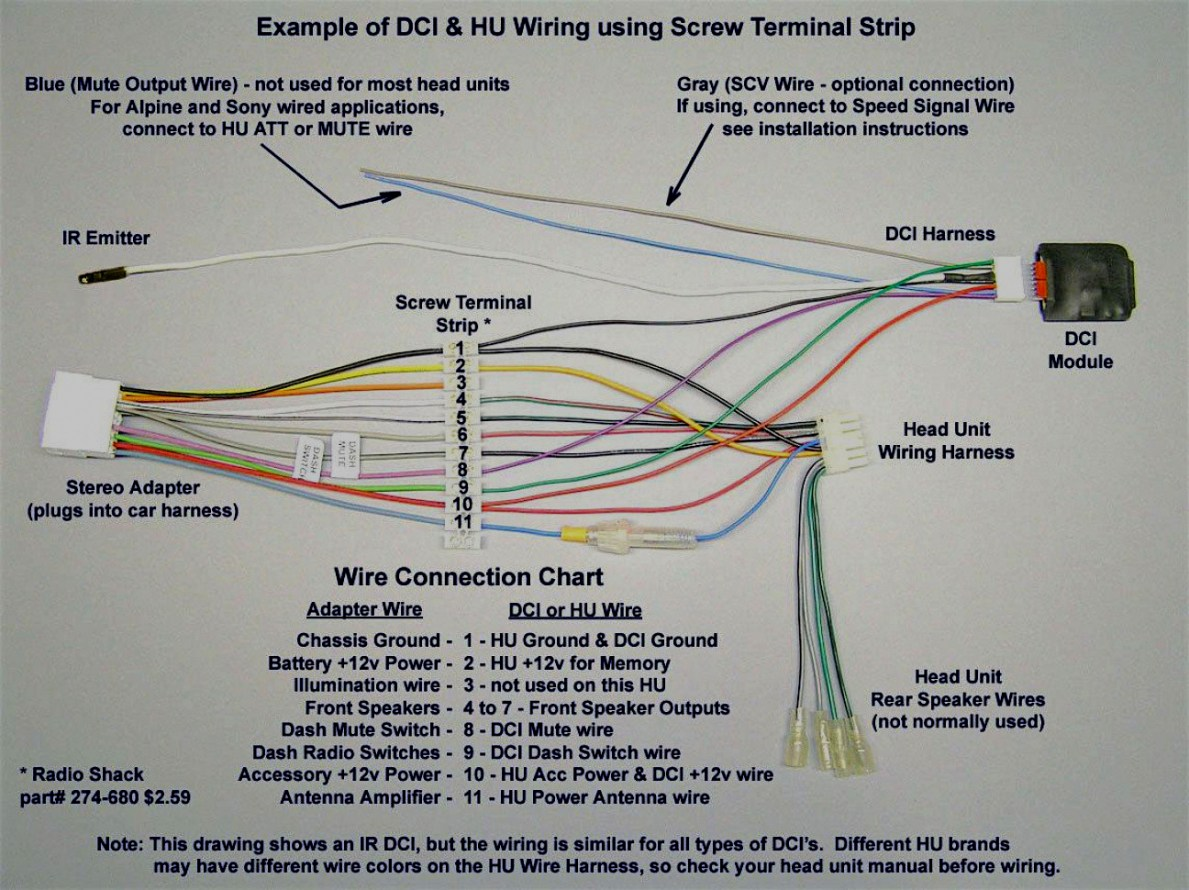 Clarion Head Unit Wiring Diagram