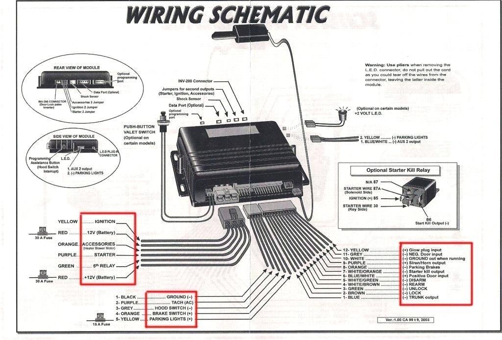 Avital Car Alarms Wiring Diagrams