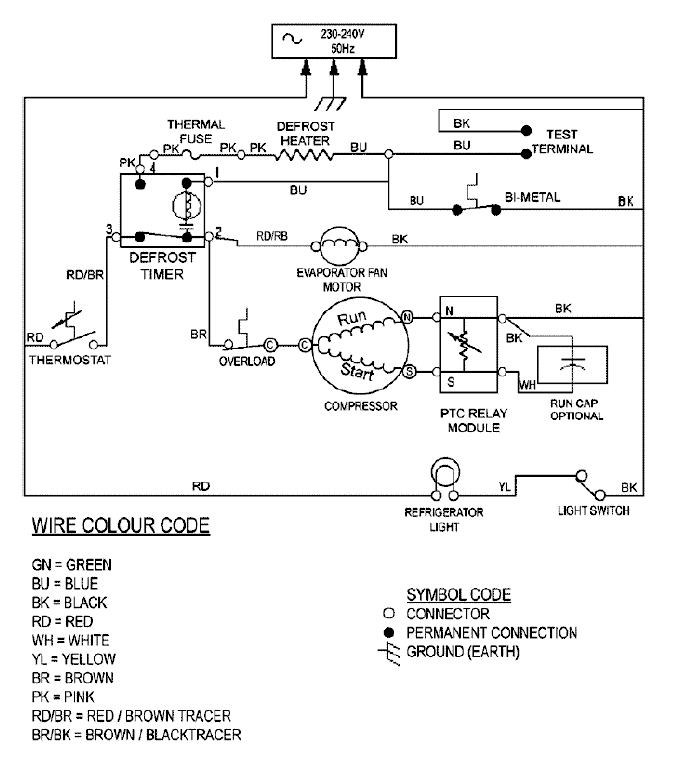 Whirlpool Defrost Timer Wiring Diagram