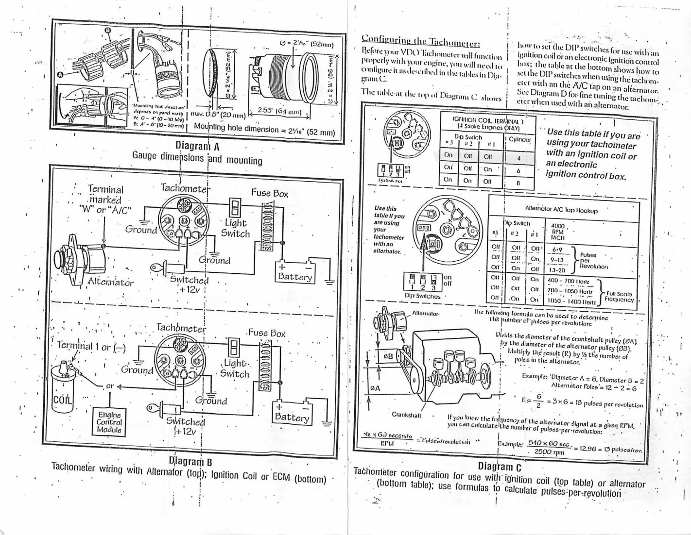 hc_4108] vdo wiring instructions including vdo tachometer dip switch  settings schematic wiring  gue45 umng mohammedshrine librar wiring 101
