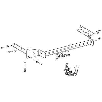 detachable tow bar bosal towbar for vauxhall astra estate