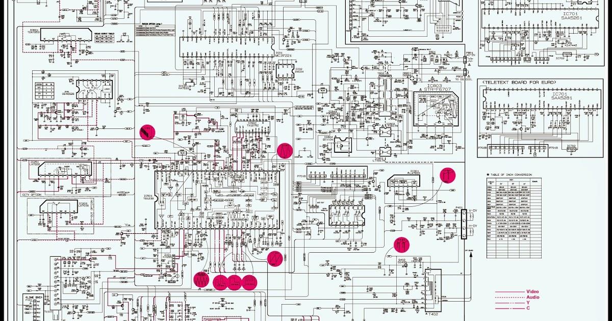 tv circuit board diagram repair yb 0297  tv circuit  yb 0297  tv circuit