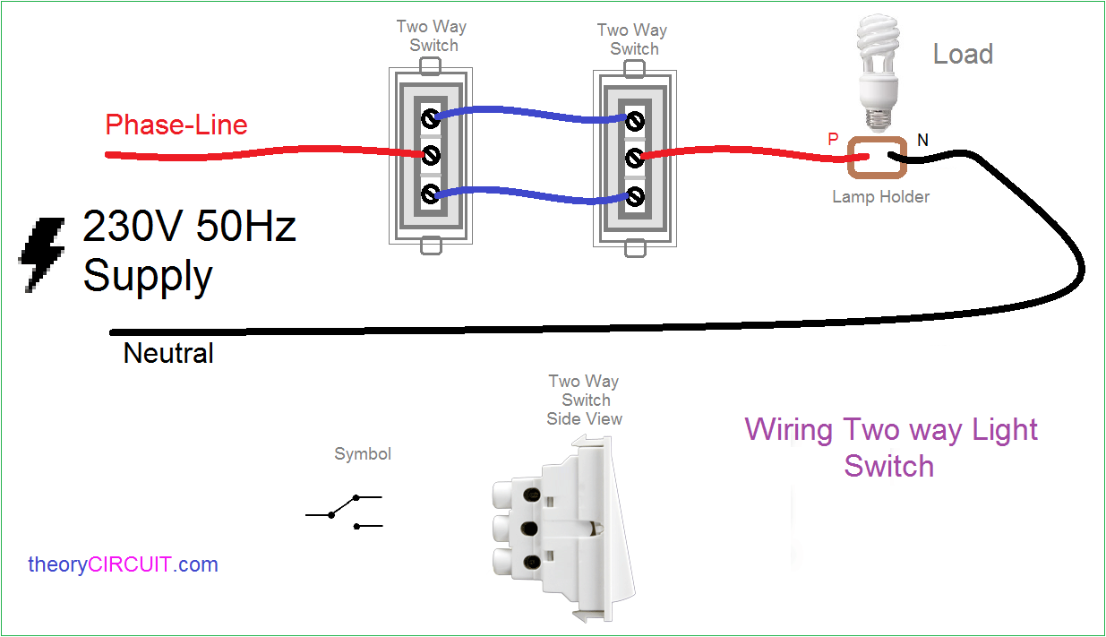 Astounding Two Way Light Switch Connection Wiring Cloud Picalendutblikvittorg