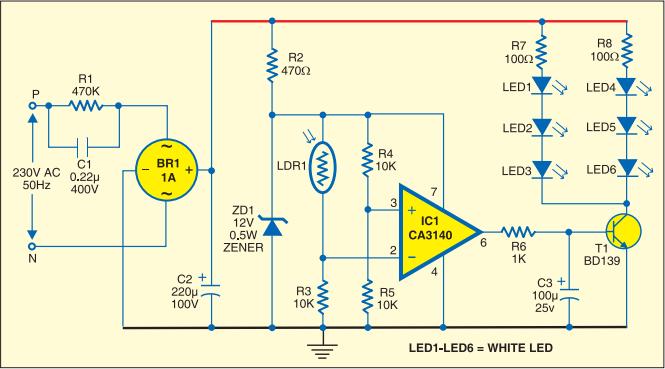 Wondrous Simple Strip Led Lamp Circuit Diagram Electrical Electronics Wiring Cloud Domeilariaidewilluminateatxorg