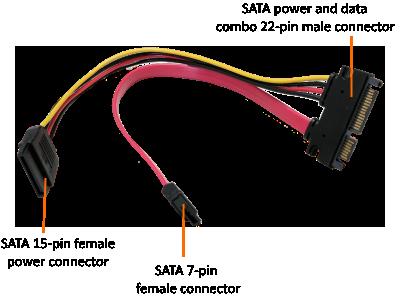 Enjoyable Addonics Product Sata 22 Pin Male To Sata 7 Pin Sata Power Wiring Cloud Uslyletkolfr09Org