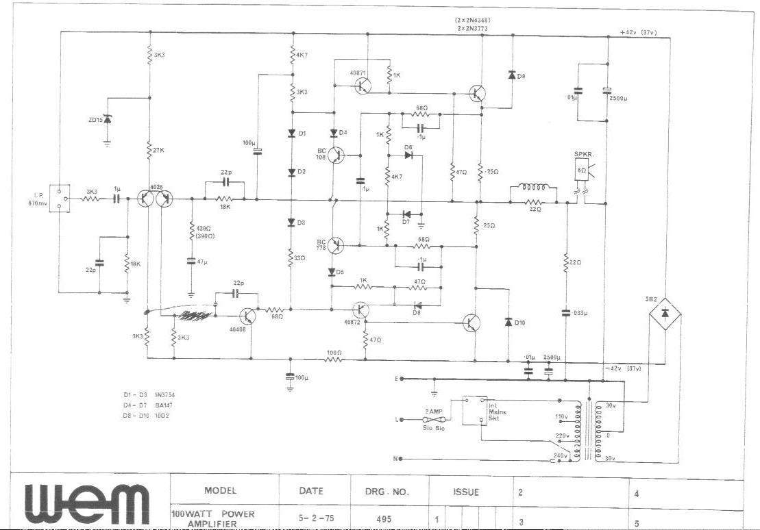 Super 1975 100W Power Amp Schematic Wiring Cloud Xortanetembamohammedshrineorg