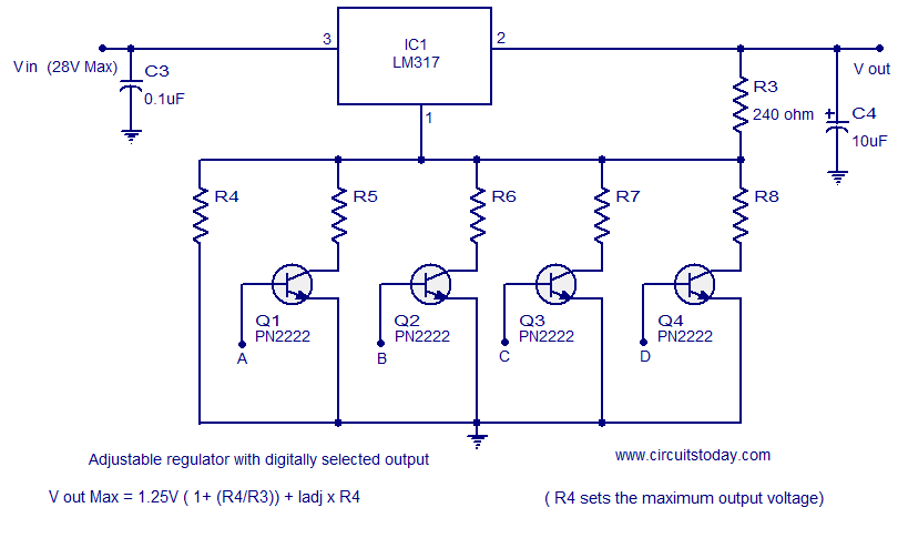 Brilliant Few Lm317 Voltage Regulator Circuits That Has A Lot Of Applications Wiring Cloud Hisonepsysticxongrecoveryedborg