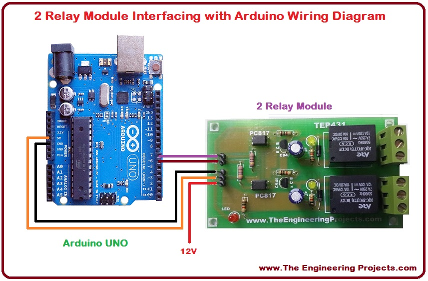 Astounding 2 Relay Module Interfacing With Arduino The Engineering Projects Wiring Cloud Onicaalyptbenolwigegmohammedshrineorg