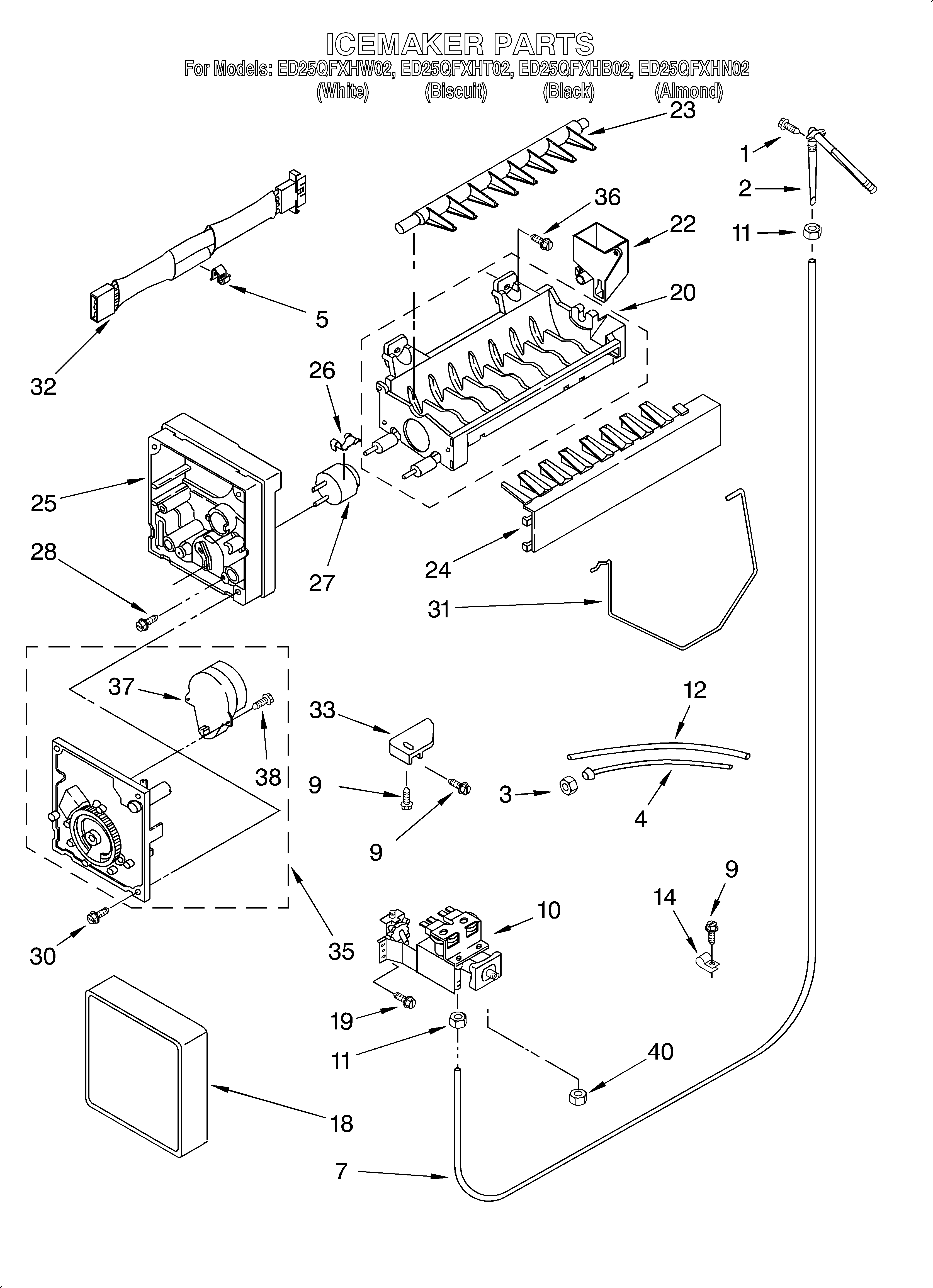 Fine Whirlpool Model Ed25Qfxht02 Side By Side Refrigerator Genuine Parts Wiring Cloud Intelaidewilluminateatxorg