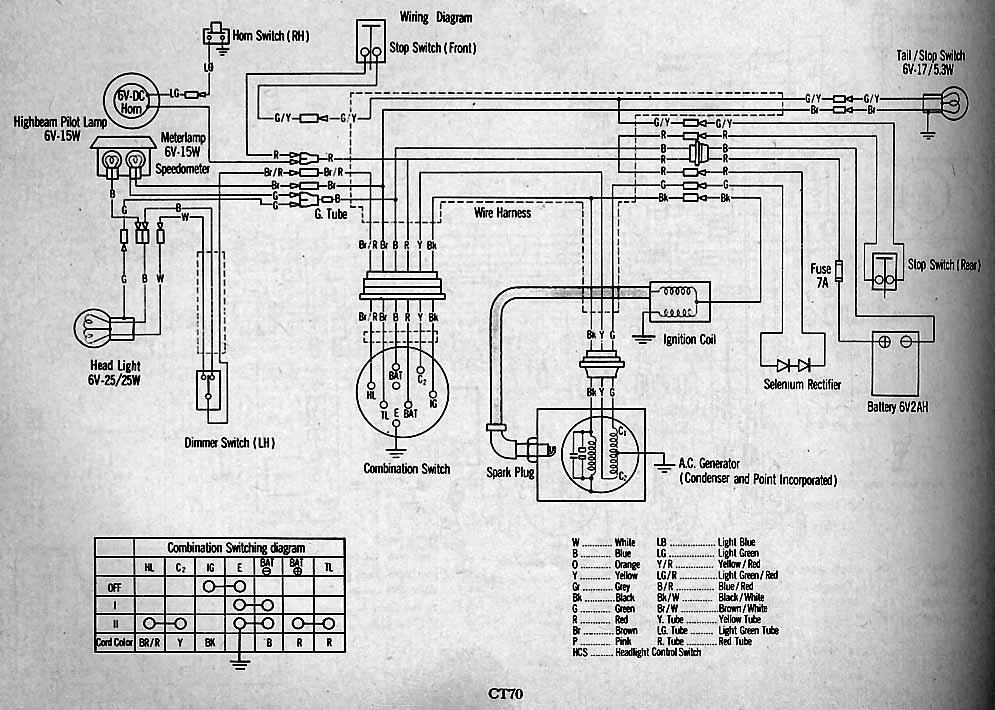 Zk 6175  Honda Ct70 Clymer Electrical Wiring Diagram