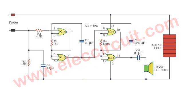 Strange Simple Moisture Detector Circuit Diagram Basic Electronics Wiring Wiring Cloud Intelaidewilluminateatxorg