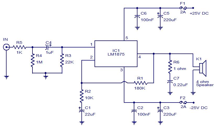 wn3052 ta8215 car audio amplifier circuit diagram