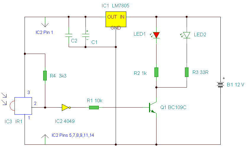 Fantastic Infrared Remote Control Circuit Basic Electronics Wiring Diagram Wiring Cloud Onicaxeromohammedshrineorg