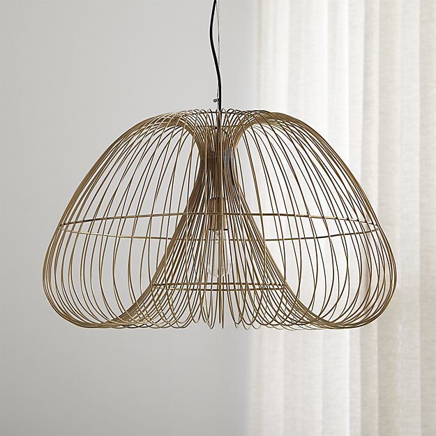 Enjoyable Cosmo Brass Wire Pendant Light Reviews Crate And Barrel Wiring Cloud Eachirenstrafr09Org