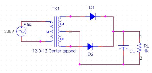 Brilliant Full Wave Rectifier Circuit Diagram Center Tapped Bridge Rectifier Wiring Cloud Uslyletkolfr09Org