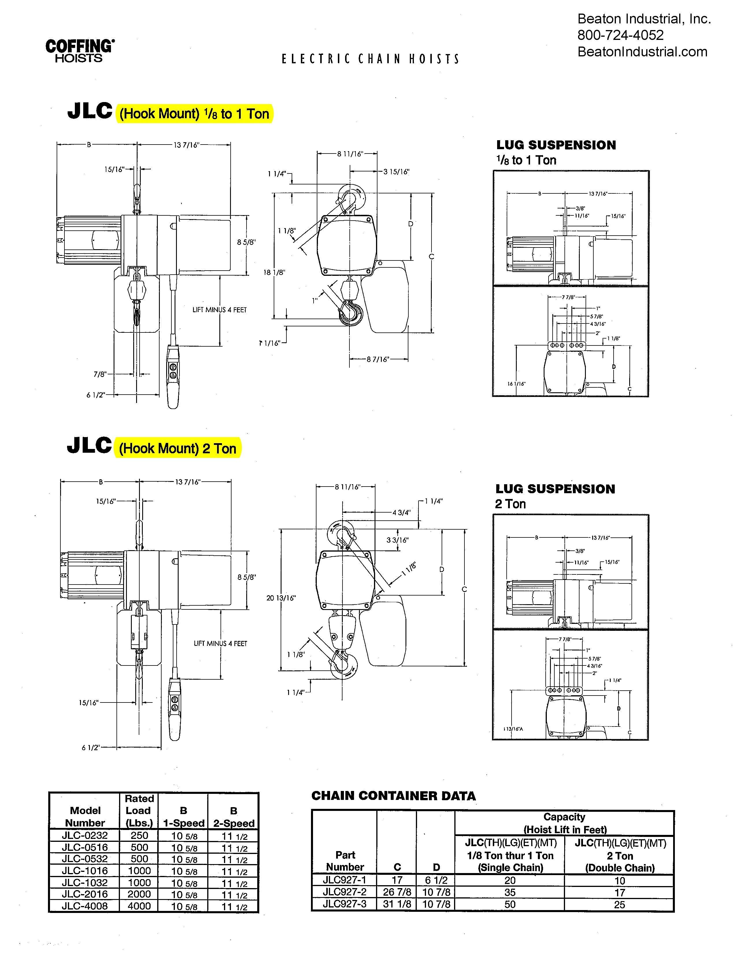 Kx 4077  Coffing Hoist Wiring Diagram Free Diagram