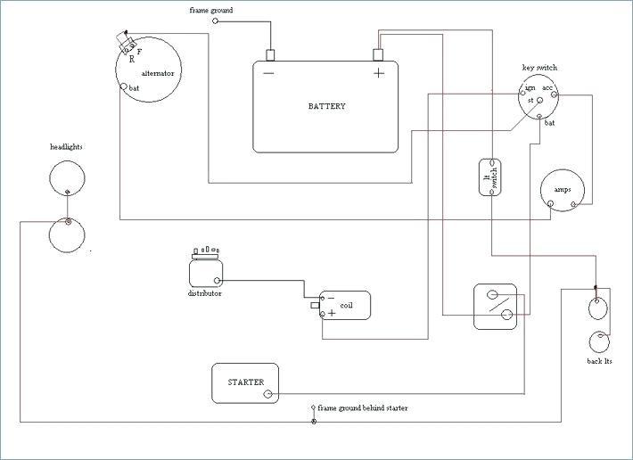 12 volt ferguson tractor wiring diagram basic  light