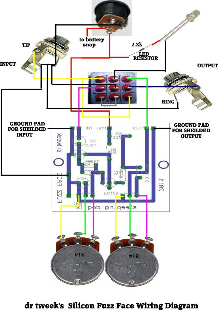 zb3136 fuzz face wiring diagram schematic wiring
