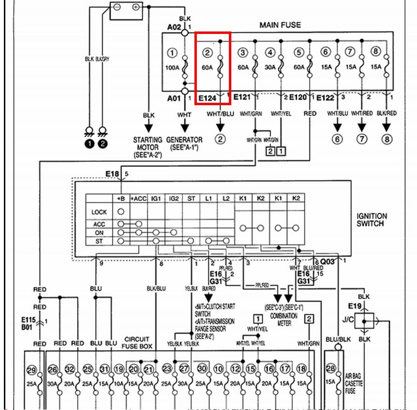 Xh 3126 Suzuki Escudo Fuse Box Schematic Wiring