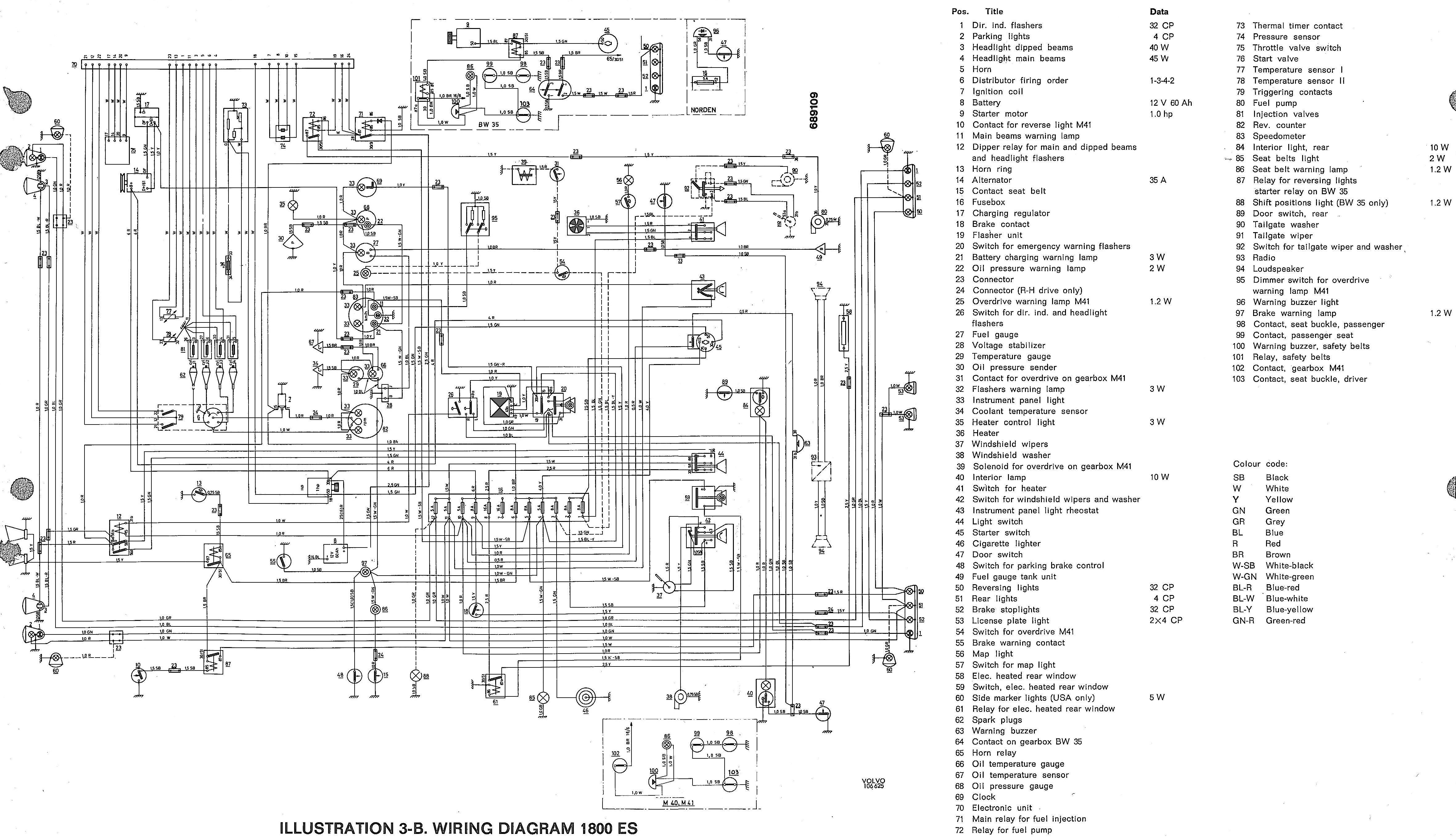 volvo 850 radio wiring harness diagram ar 5197  volvo 1800es wiring diagram  ar 5197  volvo 1800es wiring diagram