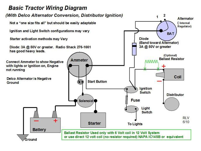 Oliver 70 Tractor Wiring Diagram