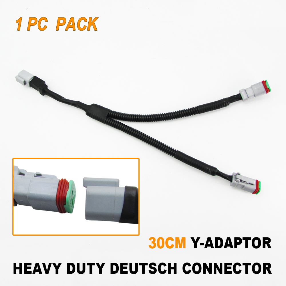10sets Deutsch 2 Pin Waterproof Electrical Wire Connector Plug DT06-2S 16-18 GA
