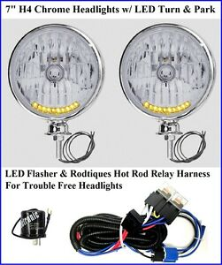 Fabulous Details About 10 Led Turn Signal Running Light Headlights Chrome W Hot Rod Relay Harness 12V Wiring Cloud Ittabisraaidewilluminateatxorg