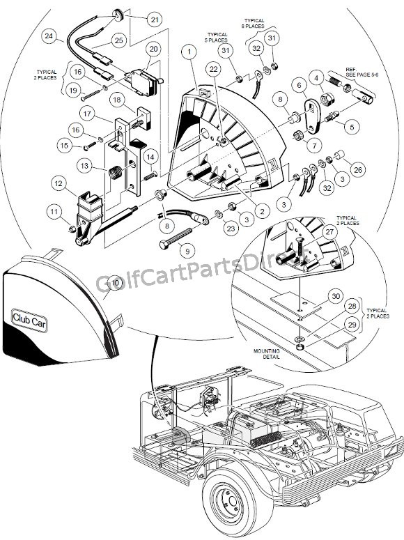 Magnificent 1998 1999 Club Car Ds Gas Or Electric Golfcartpartsdirect Wiring Cloud Hemtshollocom