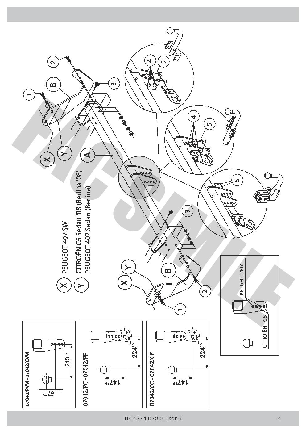 Citroen C4 Grand Picasso Towbar Wiring Diagram